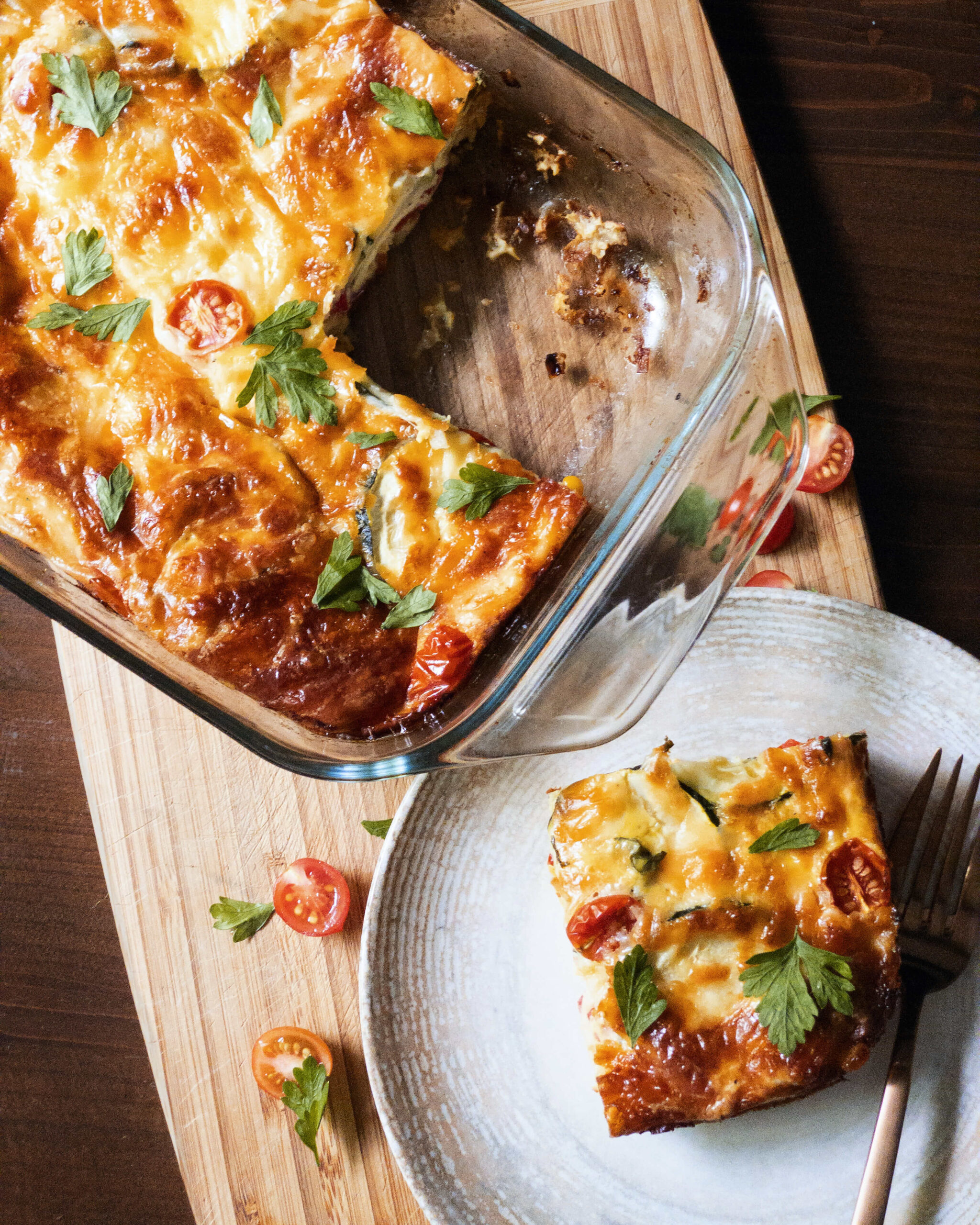 baked zucchini omelette
