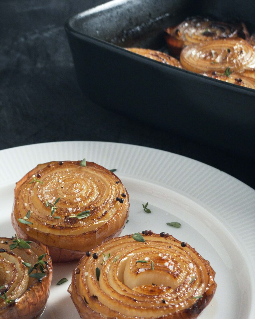 slow roasted onions