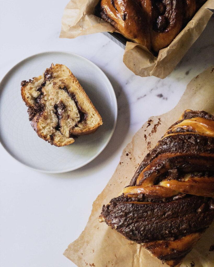 chocolate nutella babka