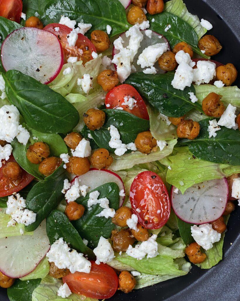 Roasted Chickpeas Greek Salad