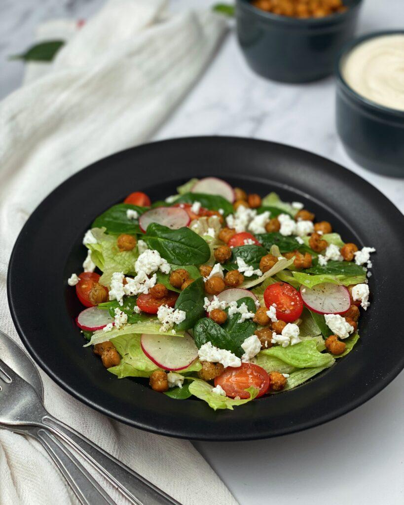 Roasted Chickpea Greek Salad