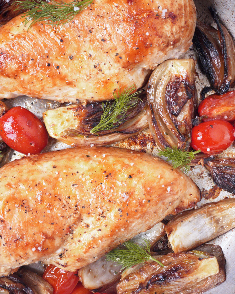 Fennel Chicken and Tomatoes