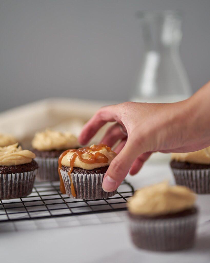 Salted Caramel Filled Cupcakes
